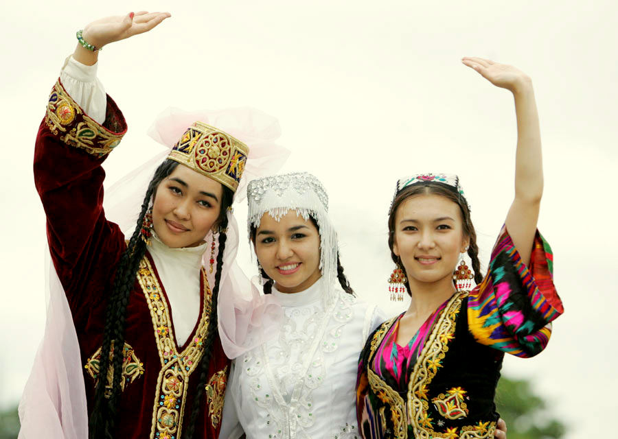 Turkic People Family