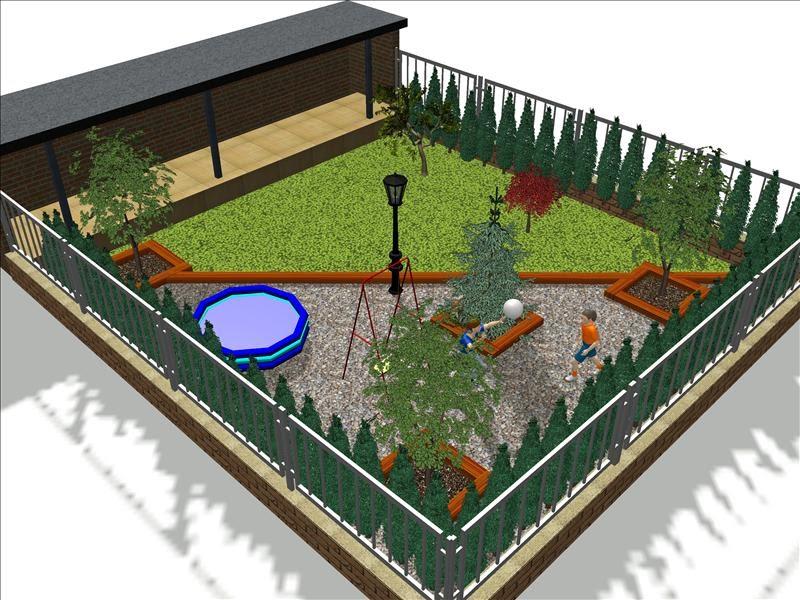 Blog de los aficionados a la jardineria jardin con cesped - Jardines pequenos con cesped artificial ...