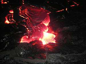 Hawaii Volcanoes National Park, lava flow Kilauea