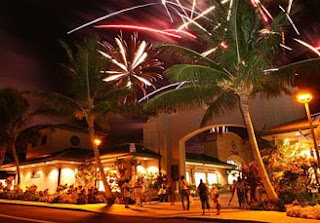 4th of July Fireworks in Hawaii, Big Island, Waikoloa Beach Resort
