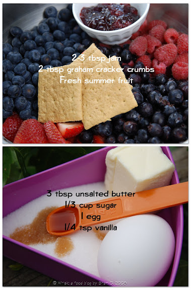 Ingredients for Summer Fruit Galette