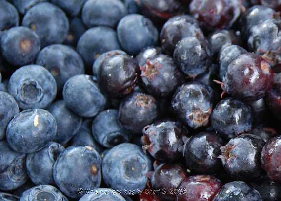 Blueberries and Saskatoons