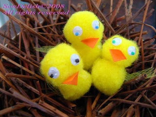 Easter Chicks in Nest Fed and Happy!