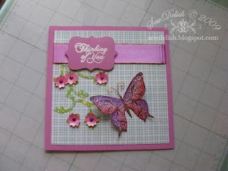 Cricut storybook cartridge Kaiser butterfly stamp card