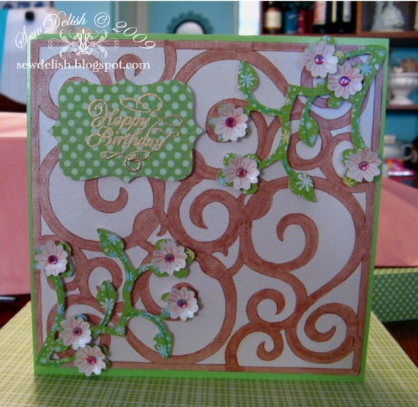 Sewdelish Flowering Vine Cricut Birthday Card