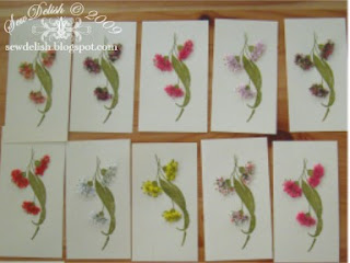 Making Cards with Flower soft and Gum Tree Leaves and Flowers Stamp