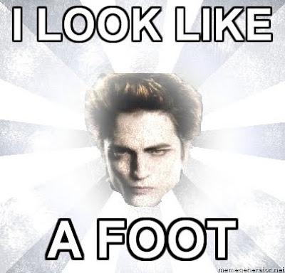 Edward Cullen Looks Like A Foot 2