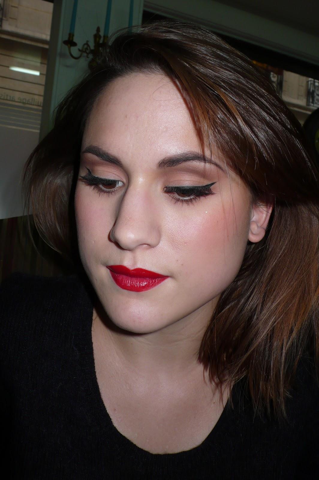 ma vie en beaut maquillage 50 39 s avec faux cils. Black Bedroom Furniture Sets. Home Design Ideas