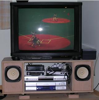 自作のテレビ台の写真