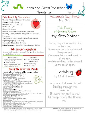 Learn and Grow Designs Website: Bug Unit Songs and Resources