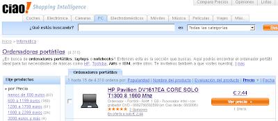 Click para ampliar: Ordenador de marca evitada por 2,44 euros. ¡¡¡WOW!!!