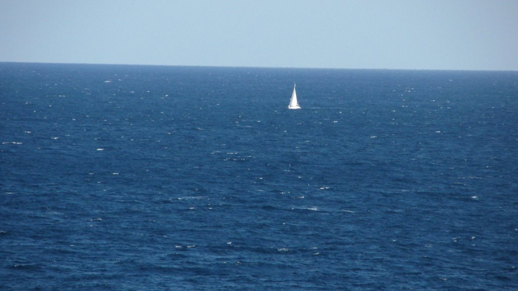 Open Ocean Sailing Small Boat High Quality Wallpaper 1024 X 576 Hd Beach Wallpaper