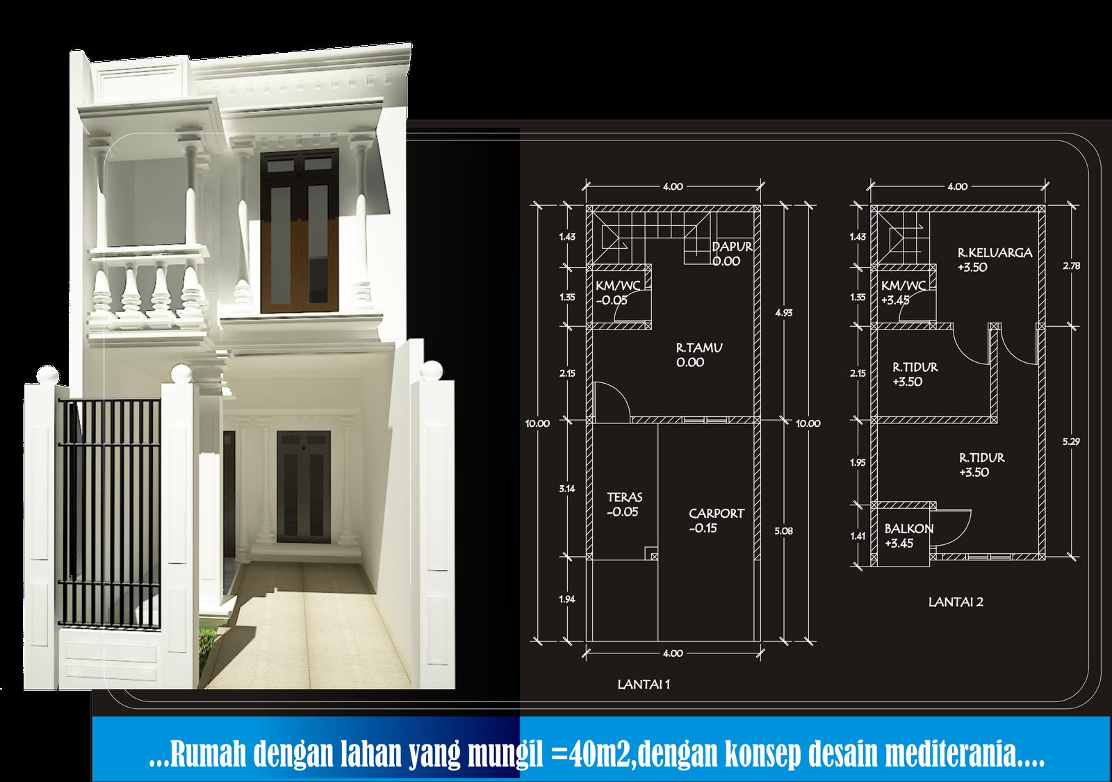 Gambar Rumah Minimalis 2 Lantai Lebar 4 Meter Desain Rumah Minimalis