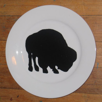 bison plate by Ruth Trevarrow