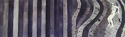 St. Sebastian in a Desintegrating Gene Davis Landscape by F. Lennox Campello