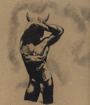 Minotaur Waiting for Theseus
