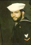 Petty Officer Third Class, US Navy Florencio Lennox Campello, circa 1975