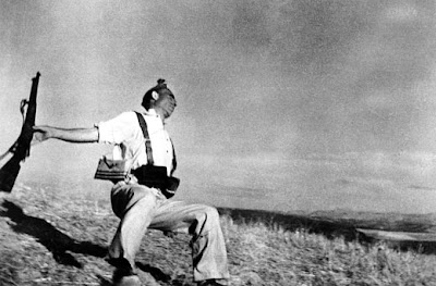 Robert Capa's iconic photo from the Spanish Civil War. Robert Capa/Copyright 2001 by Cornell Capa