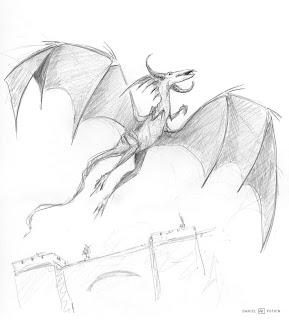 Les dessins de daniel croquis d 39 un dragon en vol sketch - Dessin d un dragon ...