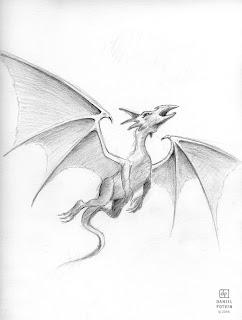 Les dessins de daniel dessin d 39 un dragon en vol drawing - Dessin d un dragon ...