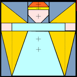 quilt block angel file svg mtc
