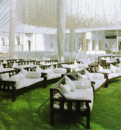 Outdoor Wedding Ceremony No Music: Perfectly Peared Events: Traditional Chair Covers, NO WAY