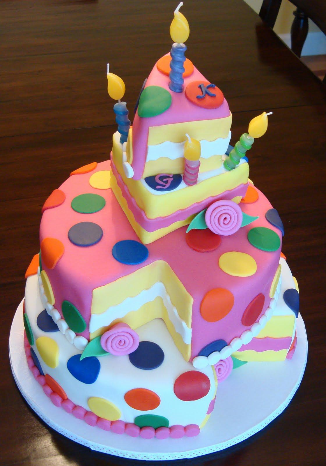 Debby S Cakes Topsy Turvy Polka Dot Birthday Quot Cake Quot