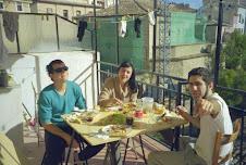 comida en la terraza