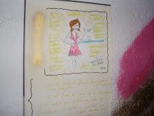 dibujo que hicieron sobre mi en el orient express