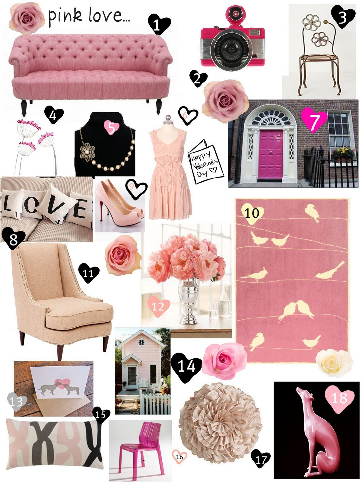Area Fare Monday Inspirations Pink Love