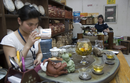 Tea tasting in China