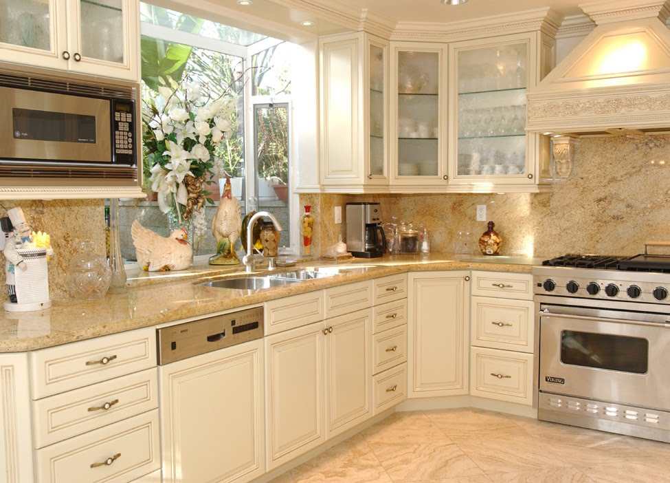 Paint Grade Cabinets - Malibu Style Doors - Antiqued Cream ...