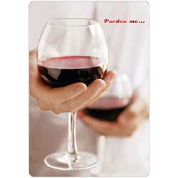 Hallmark Card Wine Glasses