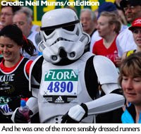 London Marathon Stormtrooper
