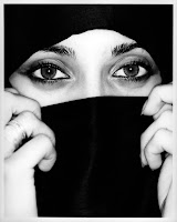 Beautiful eyes behind a burqa