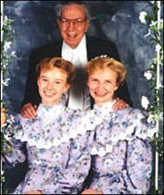 Rulon Jeffs and two of his many, many wives.