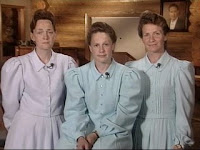 Three zombie like FLDS women being interviewed by Robin Roberts