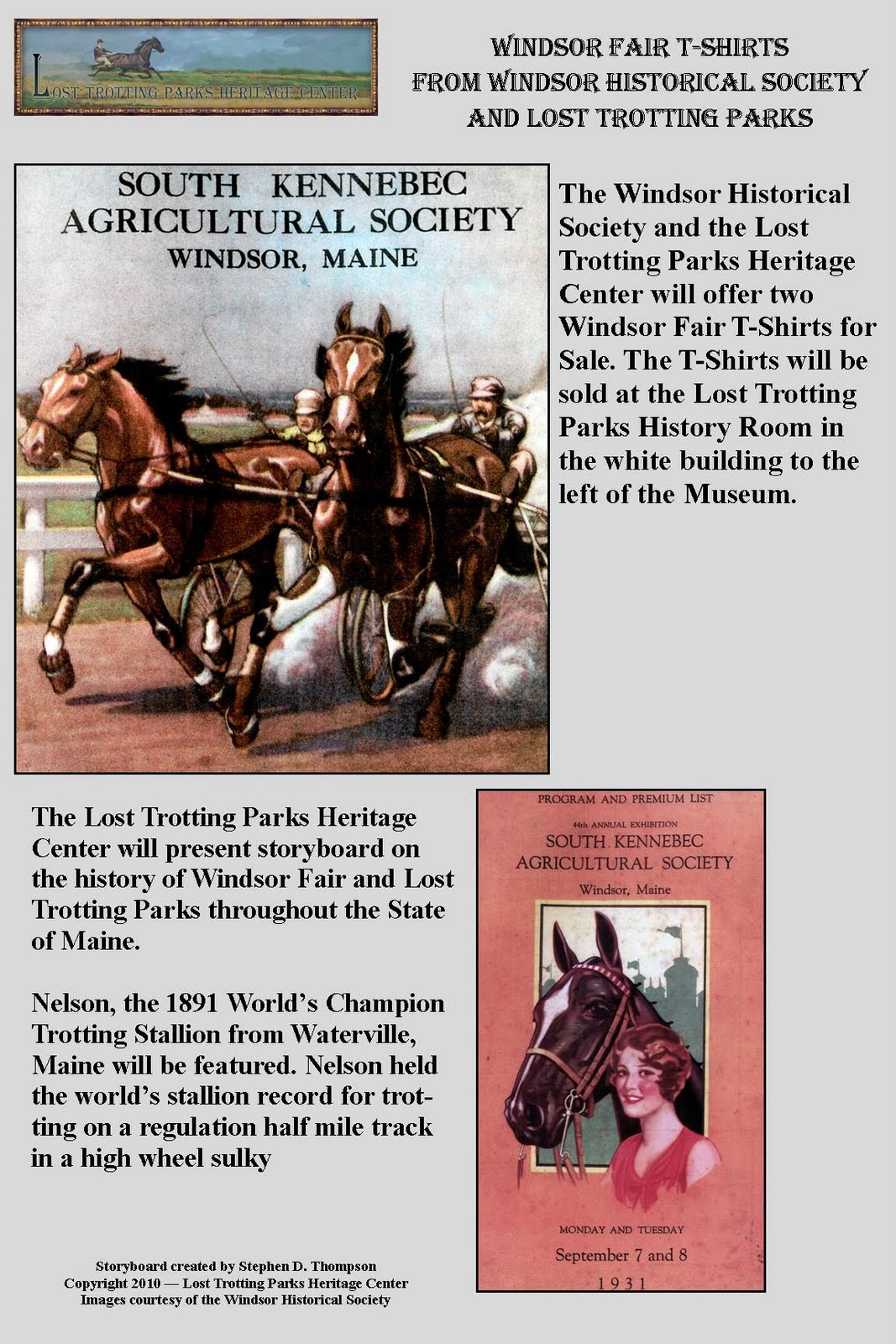 The Lost Trotting Parks Heritage Center -- Storyboard