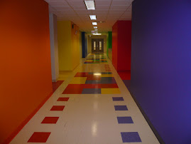 Our colourful hallway