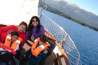 Velejando no Lago Nahuel Huapi