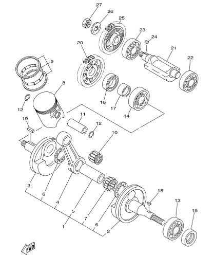 Yamaha 50 Engine Diagram, Yamaha, Free Engine Image For
