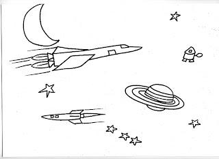 Dibujos Infantiles Para Colorear Dibujo De Naves Espaciales
