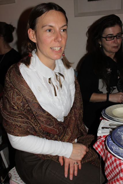 guests at thanksgiving supper club, Little House on the Prairie theme