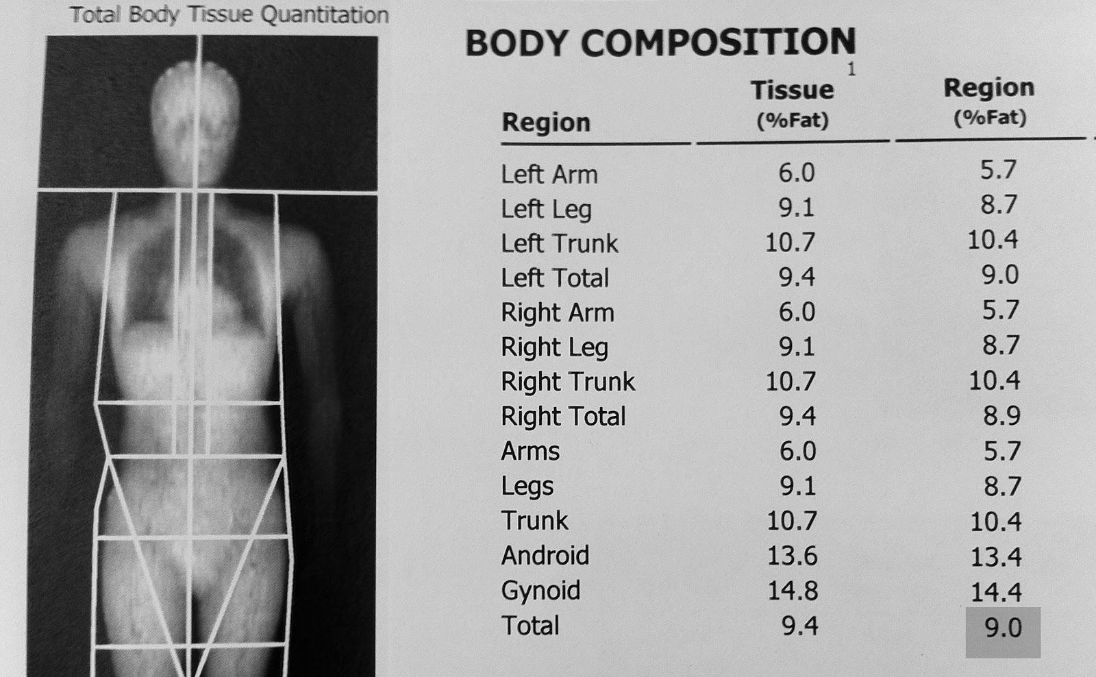 Body Fat Scan 70