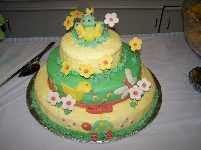 baby shower cakes for girls. Frog theme aby shower cake