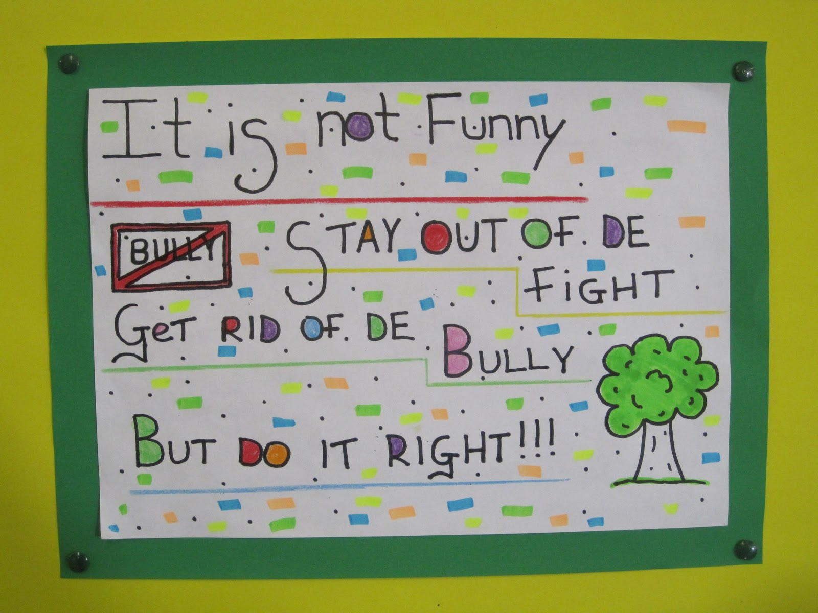 6th Class 6th Class Stamp Out Bullying Poster Competition