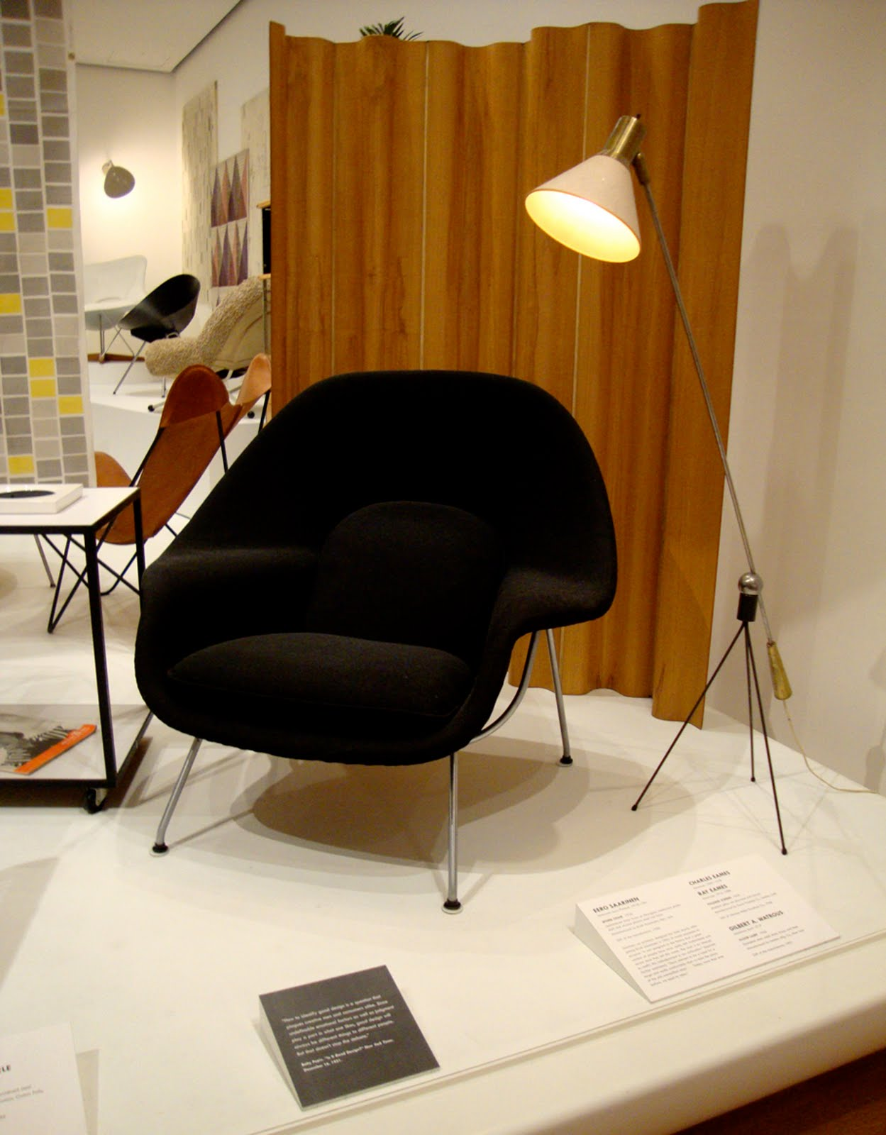 dwr womb chair black dining table and chairs nest moma