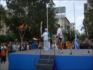 Υποδοχή της Ολυμπιακής Φλόγας στο Αγρίνιο.