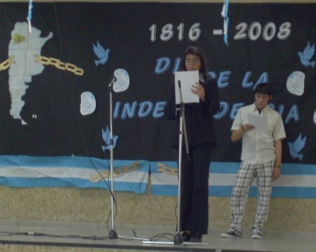 Revista de la escuela 714 acto del 9 de julio for Gimnasio 9 de julio