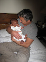 when Brad first held Solomon at the Hilton Addis